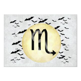 Bat Moon Scorpio 13 Cm X 18 Cm Invitation Card