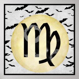 Bat Moon Virgo Poster