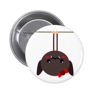 bat on a wire vampire 6 cm round badge