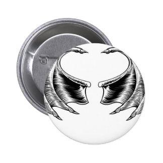 Bat or Dragon Wings 6 Cm Round Badge
