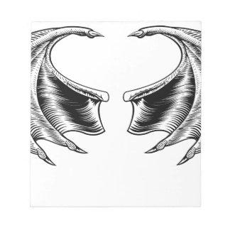 Bat or Dragon Wings Notepad