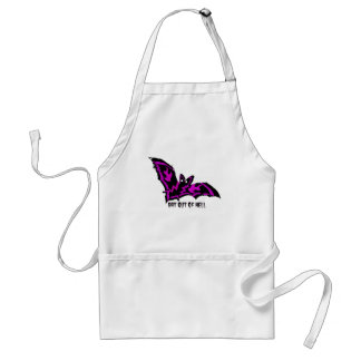 BAT OUT OF HELL WITH PURPLE FLAMES AND LIGHTNING STANDARD APRON