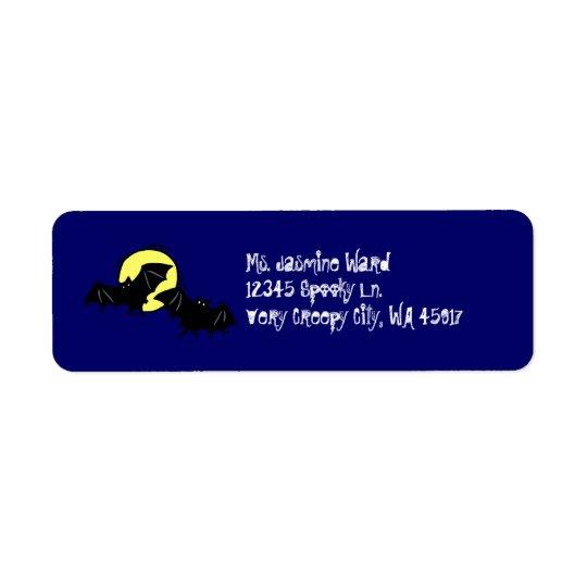 Bat Return Address Label