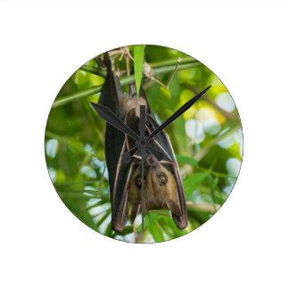 Bat Round Clock