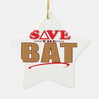 Bat Save Ceramic Star Decoration