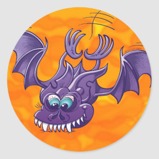 Bat Sinking its Fangs into Fresh Flesh Stickers