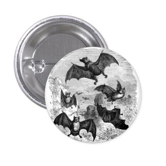 Bat Sketch 3 Cm Round Badge