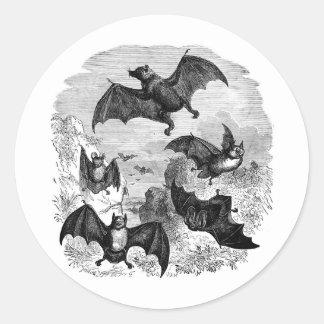 Bat Sketch Round Sticker