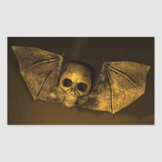 Bat Skull Rectangular Stickers