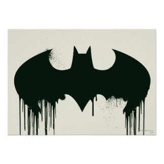 Bat Symbol - Batman Logo Spraypaint Poster