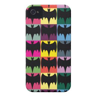 Bat Symbol Grid Pattern iPhone 4 Cover