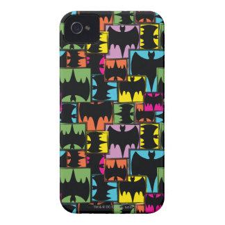 Bat Symbol Squares Pattern iPhone 4 Case-Mate Case