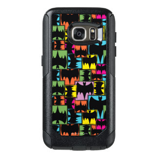 Bat Symbol Squares Pattern OtterBox Samsung Galaxy S7 Case