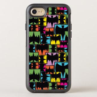 Bat Symbol Squares Pattern OtterBox Symmetry iPhone 8/7 Case