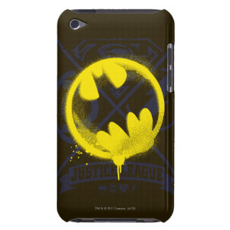 Bat Symbol Tagged Over Justice League iPod Case-Mate Cases
