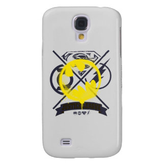 Bat Symbol Tagged Over Justice League Galaxy S4 Case
