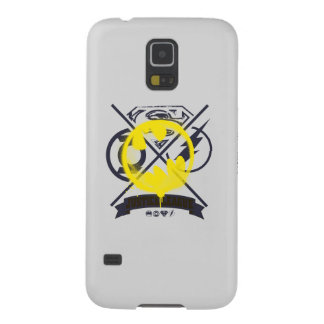 Bat Symbol Tagged Over Justice League Galaxy S5 Covers