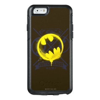 Bat Symbol Tagged Over Justice League OtterBox iPhone 6/6s Case