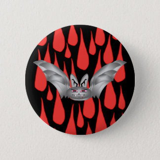 Bat T (silver) + drops 6 Cm Round Badge