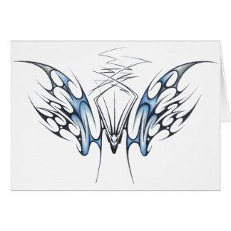 Bat tribal greeting card
