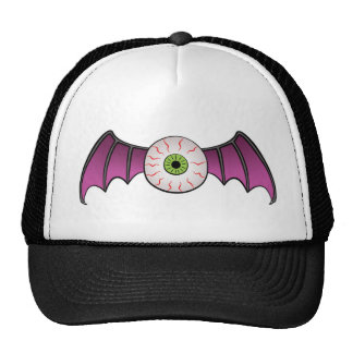 Bat Wing Flying Eyeball Hat