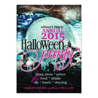 Bat Wings Moon Fairy-tale Halloween Party 14 Cm X 19 Cm Invitation Card