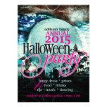 Bat Wings Moon Fairy-tale Halloween Party Invitations