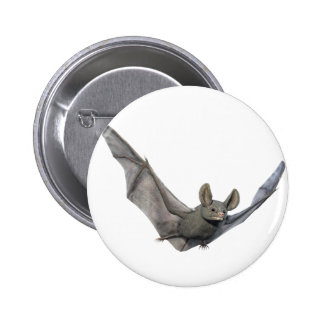 Bat with wings on the upstroke 6 cm round badge