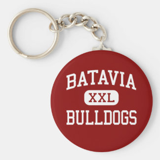 Batavia - Bulldogs - Middle - Batavia Illinois Basic Round Button Key Ring