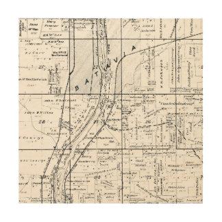 BATAVIA ILLINOIS 1871 MAP FOX RIVER VALLEY WOOD WALL ART