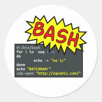 Batchman Round Sticker
