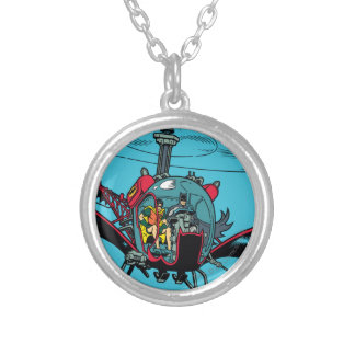 Batcopter Silver Plated Necklace