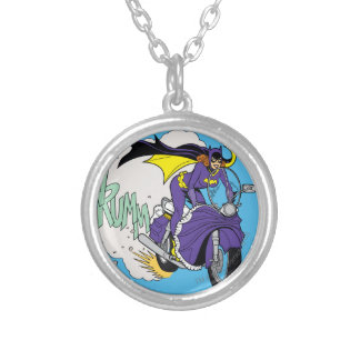 Batgirl Cycle Silver Plated Necklace