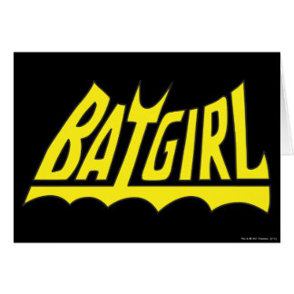 Batgirl Logo Greeting Card