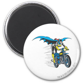 Batgirl on Batcycle 6 Cm Round Magnet