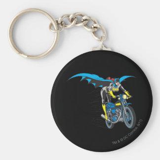 Batgirl on Batcycle Basic Round Button Key Ring