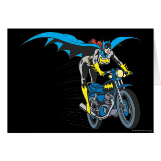 Batgirl on Batcycle Card