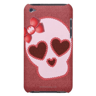 Batgirl Skull With Bow iPod Case-Mate Case