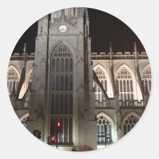 Bath Abbey Bath England Round Stickers