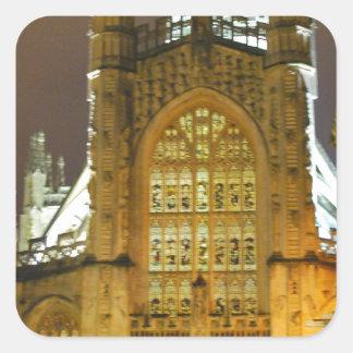 Bath Abbey Square Stickers