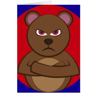 Bath angry bear cards