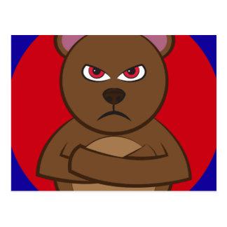 Bath angry bear postcard