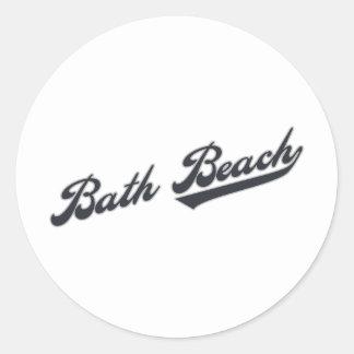 Bath Beach Round Sticker