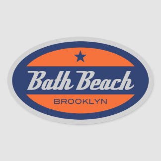 Bath Beach Oval Sticker