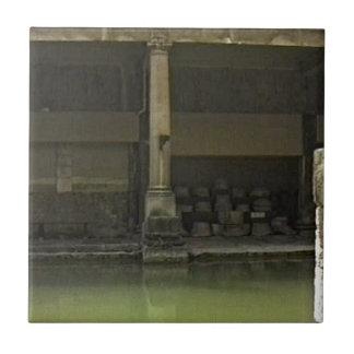 Bath England 1986 Roman Bath1 snap-18582 jGibney T Small Square Tile