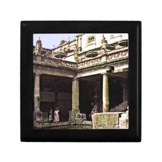 Bath England 1986 Roman Bath1c snap-17814b jGibney Keepsake Box