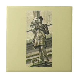 Bath England 1986 Roman Solider Statue1 snap-17612 Small Square Tile