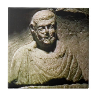Bath England 1986 Roman Statue1a snap-17238 jGibne Small Square Tile