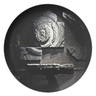 Bath England 1986 Roman Sun God snap-13584 jGibney Party Plate