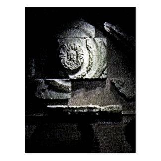 Bath England 1986 Roman Sun God snap-13584 jGibney Postcard